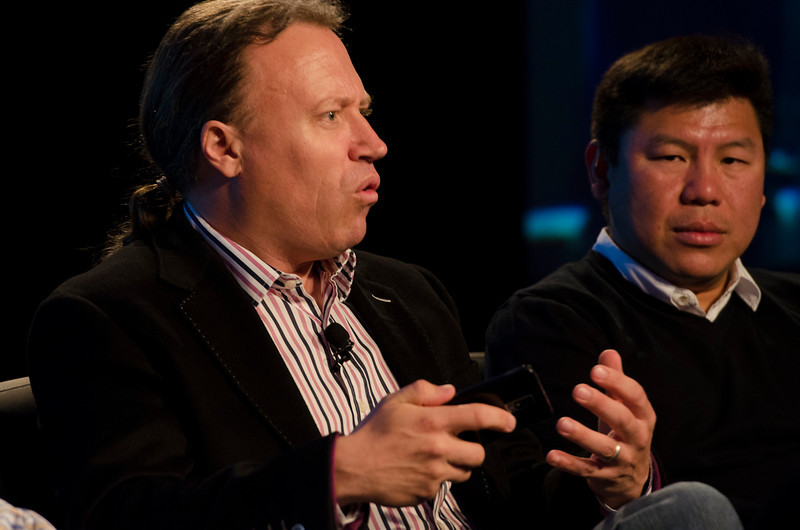 """What Every CIO Should Know About Cloud Computing"": Paul Strong (L), CTO, Global Field Operations, VMWare; and Winston Damarillo, CEO and Co-Founder, Morphlabs.  May 22-25, 2012: At the Montage in Laguna Beach, CA, 200 thought leaders - high technology engineers and executives, entrepreneurs, scientists, and media professionals - gathered for 3 days to participate in FiRe X, the 10th annual Future in Review conference, presented by the Strategic News Service and led by SNS founder and technology visionary Mark Anderson. Interviews, panel discussions, and informal conversations ranged from IP protection to CO2 and climate change, new healthcare paradigms, global economics, ocean toxins, robotics, documentary filmmaking,  medical diagnostics, technology solutions for social issues, global economics, mobile computing, and tech solutions to human trafficking and aging with dignity."
