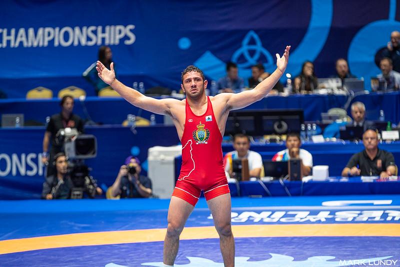 Quarterfinal: Myles Nazem Amine (SAN MARINO) over Ahmed Ruslanovic Dudarov (Germany)  •  Dec 4-2 - 2019 World Championships