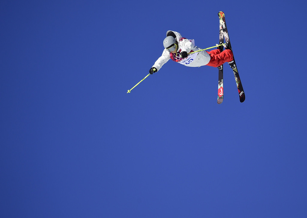 . Switzerland\'s Luca Schuler competes in the Men\'s Freestyle Skiing Slopestyle qualifications at the Rosa Khutor Extreme Park during the Sochi Winter Olympics on February 13, 2014.     AFP PHOTO / JAVIER SORIANO/AFP/Getty Images