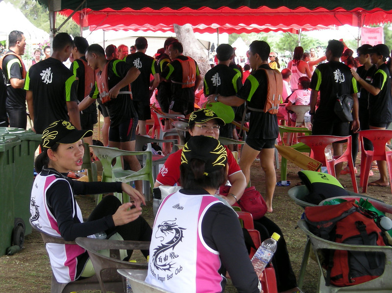 chilling out after the annual Dragon Boat race