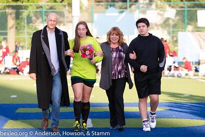 Varsity Soccer Girls Academy Senior Night