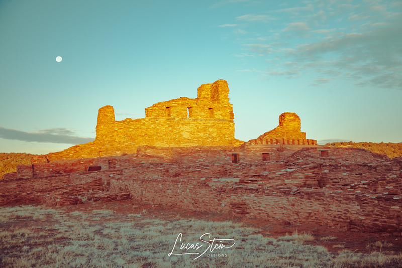 Moon over Salinas Pueblo Mission Ruins