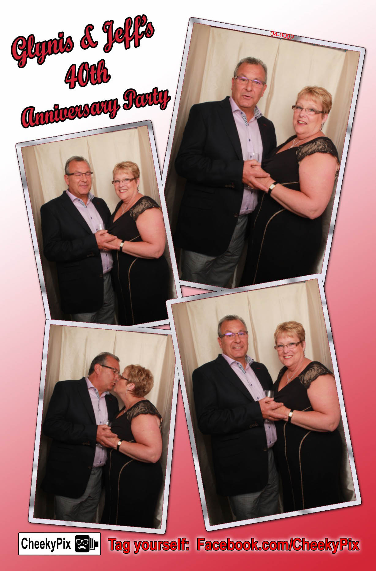 Anniversary photobooth hire