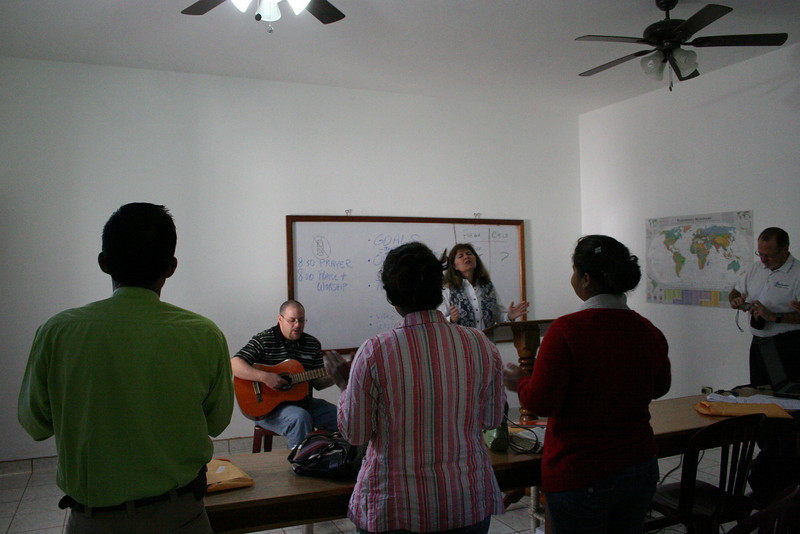 We started this morning (Friday) with praise and worship let by Cathy.