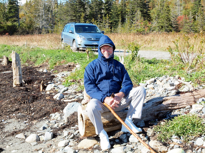DRB - taking a rest after a hike in the park on Vinalhaven