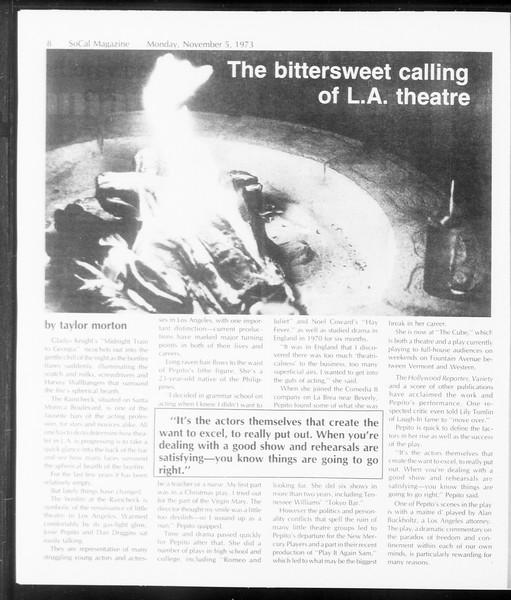 SoCal Magazine, Vol. 66, No. 33, November 05, 1973