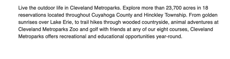 MetroParks - Cleveland
