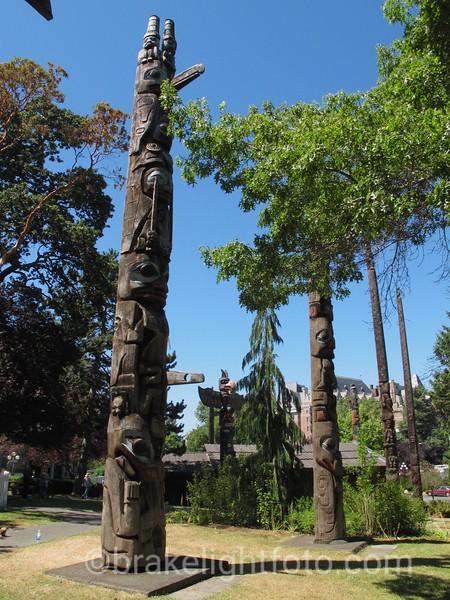 Totems at the Royal BC Museum