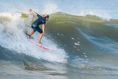 T J Gumiela Surfing Long Beach 8-16-17