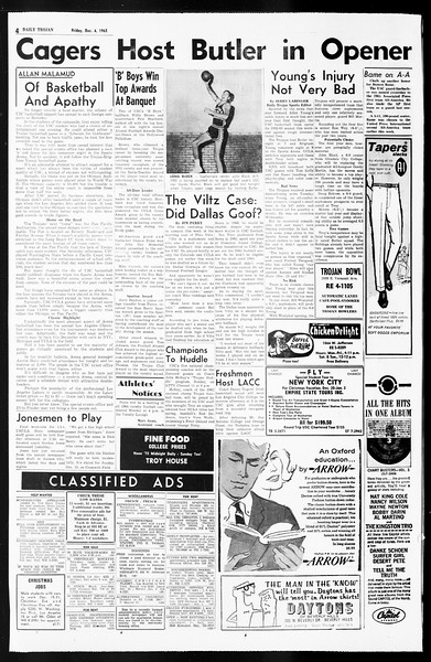 Daily Trojan, Vol. 55, No. 50, December 06, 1963