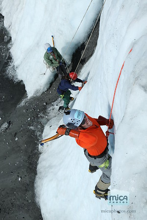 Ice Climbing with Chris and Brett