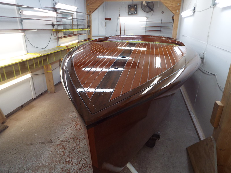 Second group of five coats of varnish started.