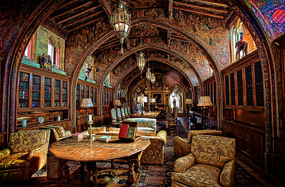 The Gothic Study, Hearst Castle William Randolph Hearst met with his advisors in this room. It's one of the 'small' libraries, petite by comparison with the main library. Every square inch is covered with some amazing bit of artwork; as is the entire place.   Hearst and his architect Julia Morgan worked on Hearst Castle for 28 years - and still didn't finish it. Amazing.