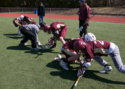 Face-off clinic for 7th Graders