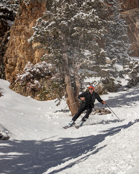 Skiing the Whipple Couloir