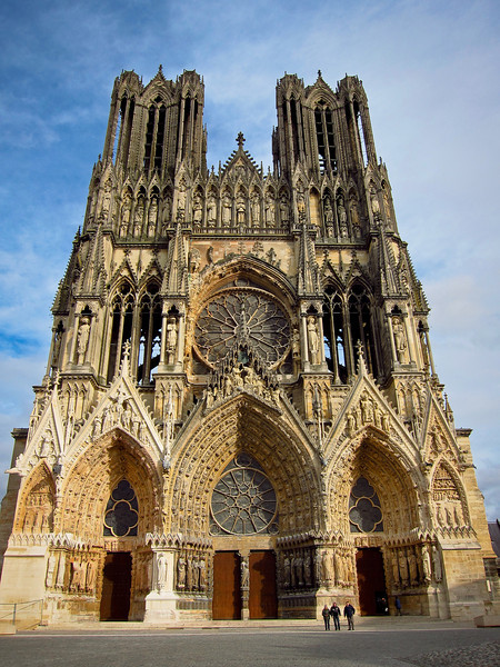 Notre Dame cathedral in Reims.  The coronation of many French kings took place here.