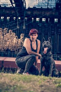 06.07.2018 - Selina mit Schäferhund