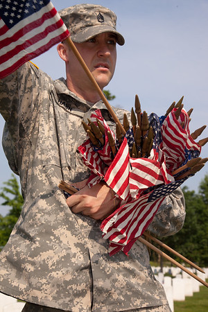 """""""Flags-In"""" at Arlington National Cemetery (2011)"""