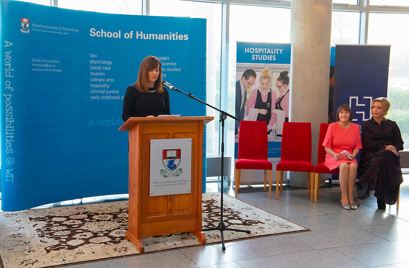 19/09/2019. Waterford book launch of Vicky Phelan memoir takes place at WIT Waterford Institute of Technology (WIT) was the location for the Waterford book launch of Overcoming: A Memoir by Vicky Phelan on Thursday, 19 September 2019. Vicky was employed by WIT from 2006 for 13 years. At the book launch Vicky was joined by family, friends, and former colleagues. WIT Vice President, DR Richard Hayes welcomed Vicky to WIT. Speeches were made by Hachette Ireland Publicity Director Elaine Egan, with the official launch of the book made by Vicky's former secondary school teacher at Mooncoin Vocational School Breda Keyes, and Vicky who welcomed ghostwriter Naomi Linehan to the podium to say a few words.  Picture: Patrick Browne