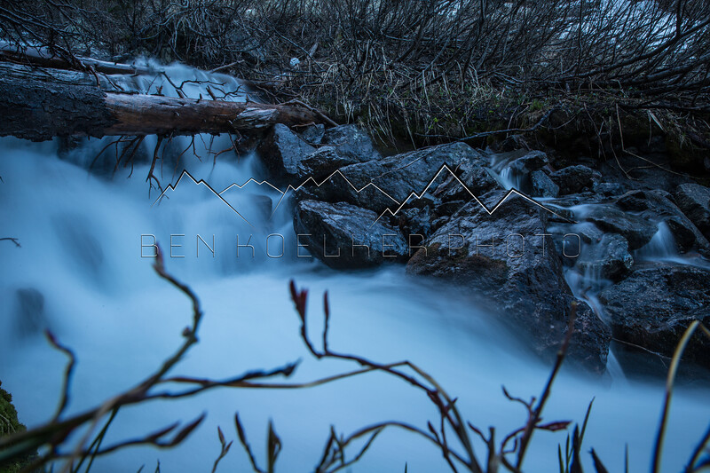 Long Exposure of Creek in Gore Range, CO