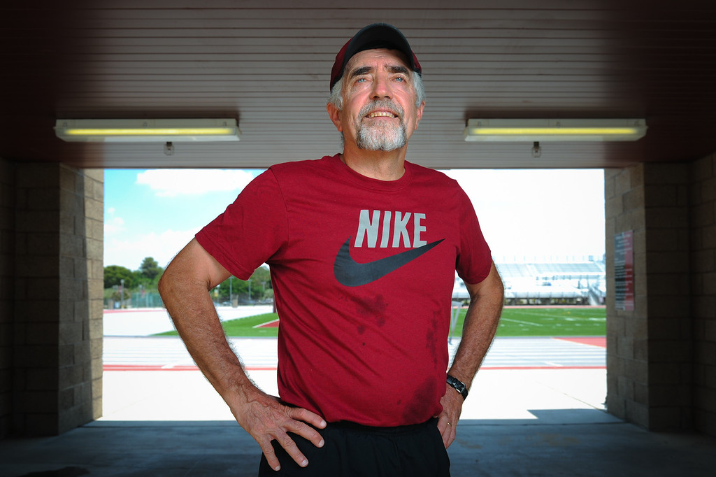 . Mark Covert, the U.S. record holder and No. 2 in the world for the longest streak of consecutive days having run at least 1 mile, will end the streak Tuesday, July 23, on the 45th anniversary of when it started. (Michael Owen Baker/L.A. Daily News)