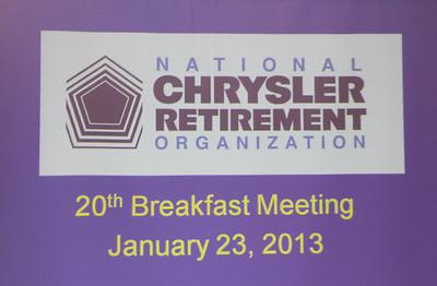 NCRO Meeting 2013 01 23