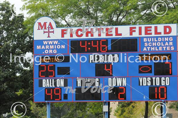 Plainfield Central High School Football at Marmion Academy in Aurora, Ill 8-31-13