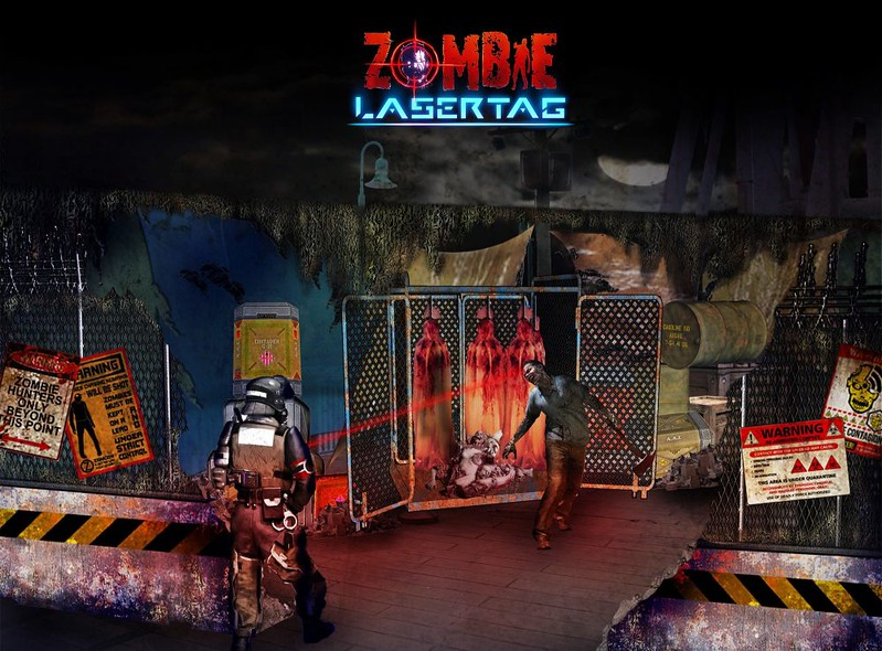 ZOMBIE LASER TAG experience - Universal Studios Singapore Halloween Horror Nights 7