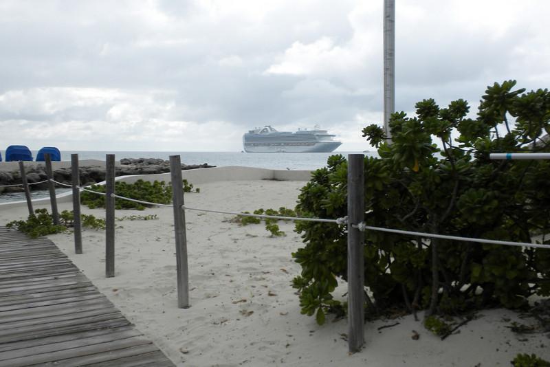 View of Emerald Princess from Princess Cays, Eleuthera Island