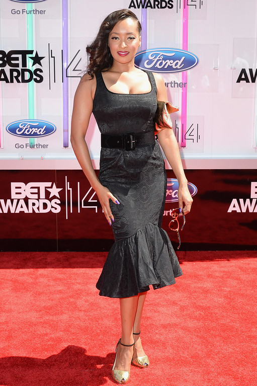. Actress Jennia Fredrique attends the BET AWARDS \'14 at Nokia Theatre L.A. LIVE on June 29, 2014 in Los Angeles, California.  (Photo by Earl Gibson III/Getty Images for BET)