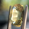 4.06ct Yellow-Chartreuse Sapphire with GIA, No-Heat 2