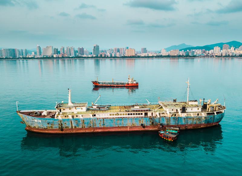 Abandoned Ships In Sanya, China