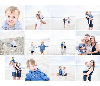 Mission Beach Family Photography, natural, casual, fun. Partin Family Photos at Mission Beach August 2019