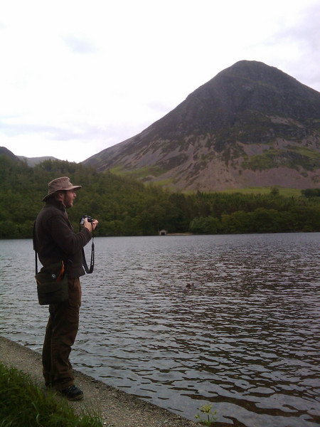 Michael at Crummock Water in a very typical pose