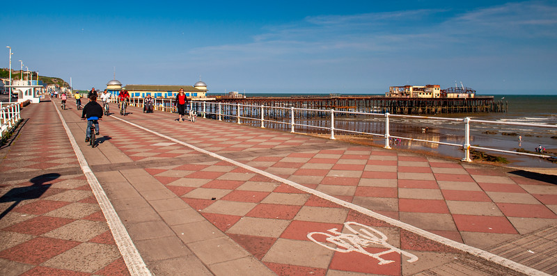 Cycling on Hastings seafront