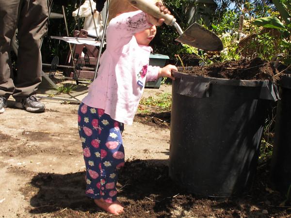 Abigail Gardening July 2013