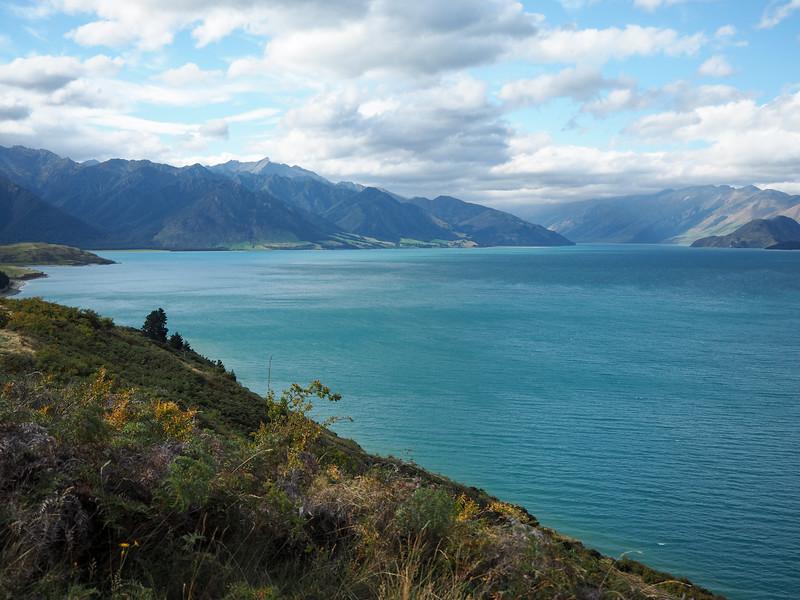 Lake Hawea in New Zealand
