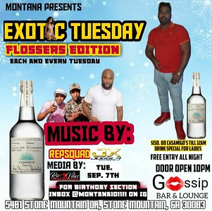 EXOTIC TUESDAY @ GOSSIP LOUNGE