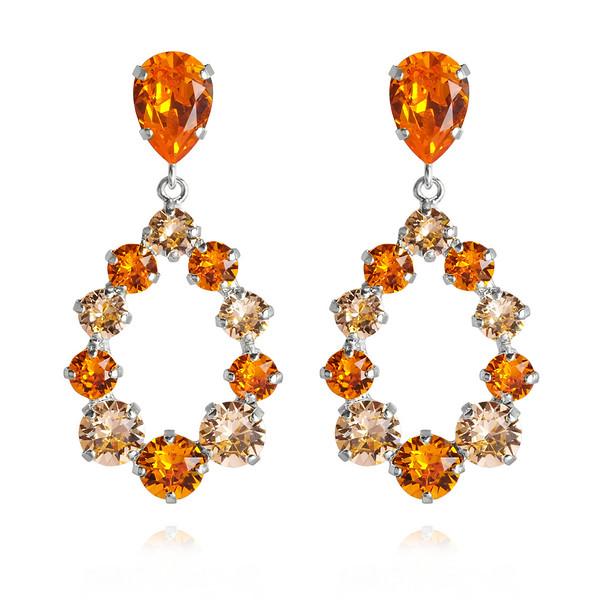 Delia Earrings / Tangerine + Light Peach