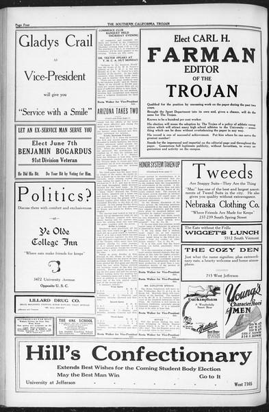 The Southern California Trojan, Vol. 12, No. 79, May 11, 1921