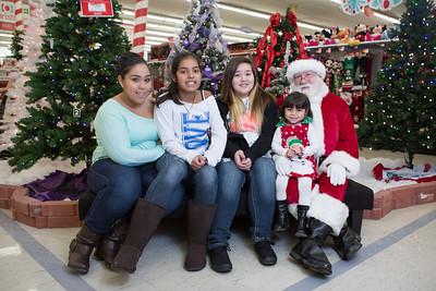 Santa at K-Mart for Food Drive