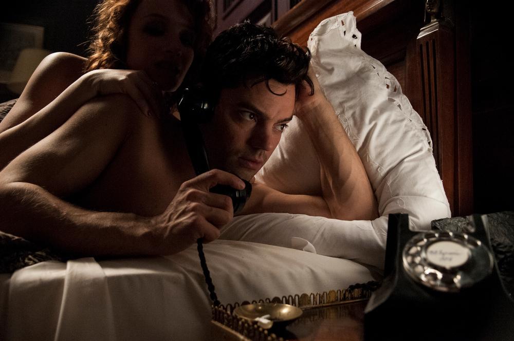 . Dominic Cooper as Ian Fleming. (Photo by Kata Vermes for Sky Atlantic/Ecosse Films)