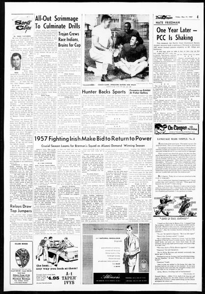 Daily Trojan, Vol. 48, No. 133, May 17, 1957