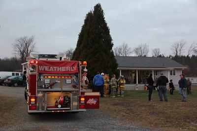 Fire Response, Quakake Road, Packer Township (11-25-2012)
