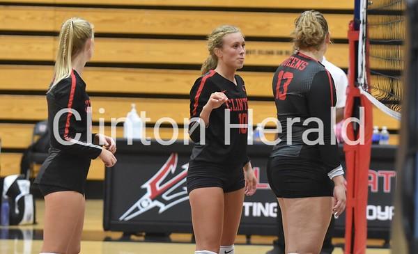 PHOTOS: Central DeWitt at Clinton volleyball