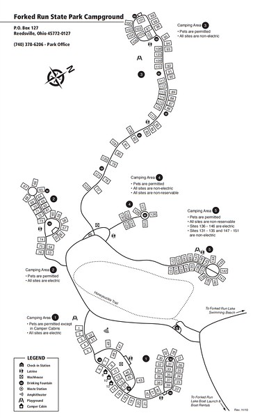 Forked Run State Park (Campground Map)