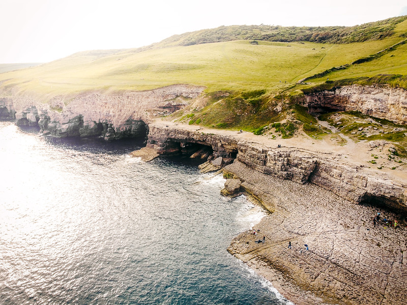 West over Dancing Ledge