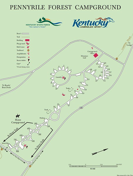 Pennyrile Forest State Resort Park (Campground Map)