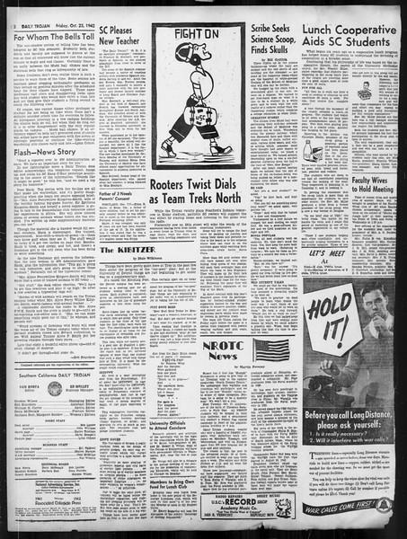 Daily Trojan, Vol. 34, No. 26, October 23, 1942