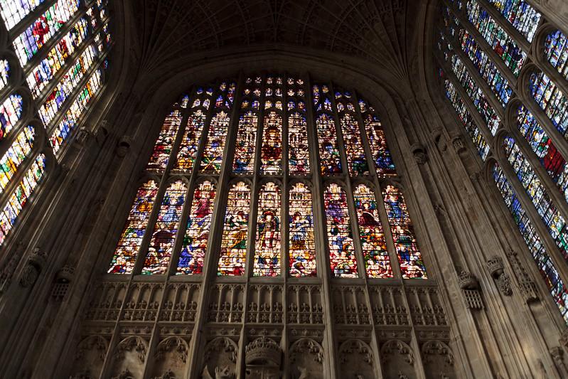 Windows in King's College Chapel, Cambridge (Sep 2009)
